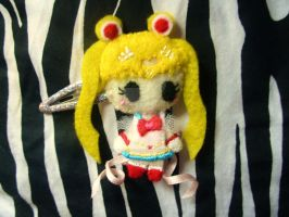 Super Sailor Moon hair clip by Invader-Valo
