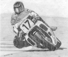 motorcycle racer by kirto