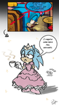 Pretty Princess ( issue 8 off panel #1) by Saphfire321