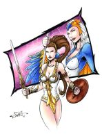 Masters of the Universe - Teela + Sorceress by Killersha
