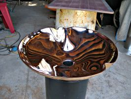 Crenellated Bronze Sink,update by ou8nrtist2