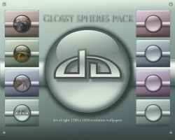Glossy Spheres Wallpaper Pack by ClaireJones