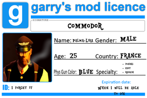 Gmod License card by Commodor-Richter
