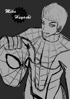 FA Sketch: Spiderman of Spiderman by MikaHayashi