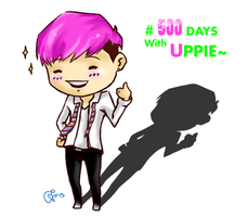 500days with Uppie and his smile by rubbishthieves