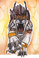 ACEO - Gold storm by MargotShareaza