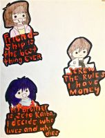 Little Kuriboh Character Drawings 2 by futuremoon