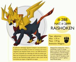 Pokemon Oryu 288 Raishoken by shinyscyther