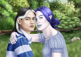 Neysa and Bran by Ellaire