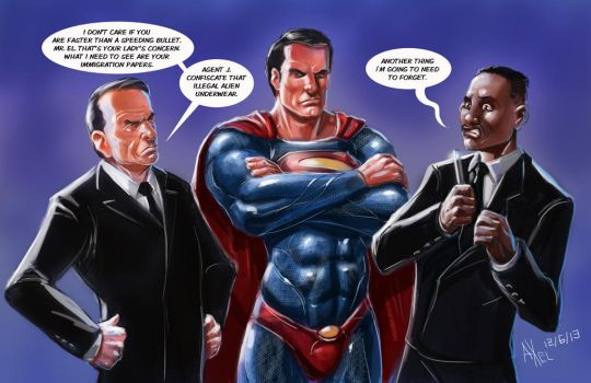 TLIID 144. Superman and the Men in Black by AxelMedellin