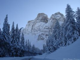 Monte Pelmo in the snow by lailalta