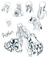 Ronin Sketch page by Simple-PhobiaXD