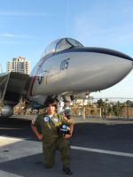 Check-6 Cosplay - Kotaro and His F-14 by BlueWolfRanger95