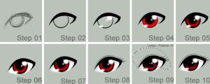 HOW I DO MY ANIME EYES ... by Exhaltorio