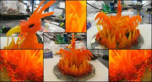 Sugar Sculpture - Phoenix by luckee-08