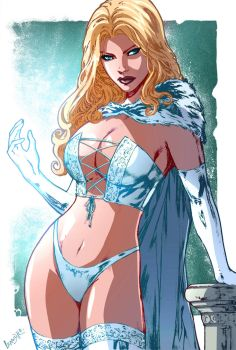 Emma Frost colored by watarusan