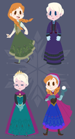 Arendelle's Coolest Fashions by spiffychicken