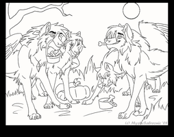 Happy Halloween 2008 -LineArt- by DrMario64