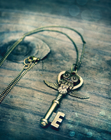 Owl Key Charm Necklace v.2 by MythicalFolk