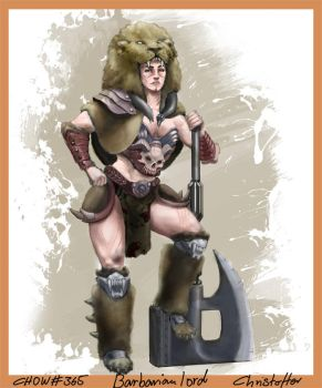 CHOW#365 Barbarian lord Christoffer by Agent-Chris