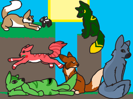 achievement hunter as wolves! by Avian1131