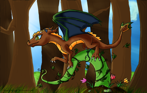 Lydia the Nature Dragon by MindyDragon