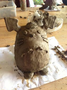 Totoro Mud Sculpture by PisaRose97