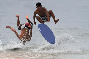 Beach Surfing - 8 by SAMLIM