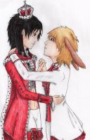 The King of Hearts and the March Hare by EmpressSuccoria