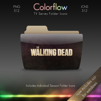 Colorflow TV Folder Icons: The walking Dead by Crazyfool16