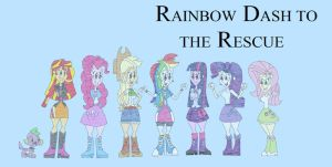 Rainbow Dash to the Rescue by HunterxColleen