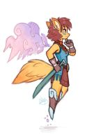 Foxy Warrior by LuigiL
