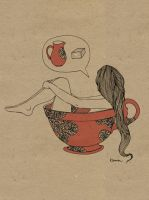 Cup of a Girl by KammFlower