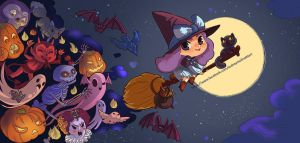 the moon is round and the spirits come along by audreymolinatti