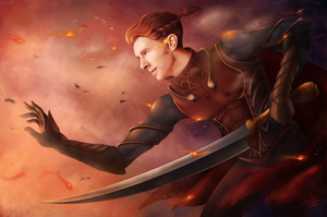 Slaying Embers by annezca