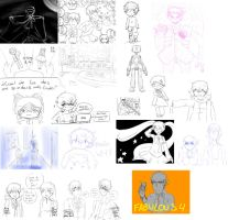Sketches de Facebook [Octubre 2014] by irenereru