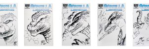 Sketch cover samples by KaijuSamurai