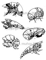 some spaceships by yorko