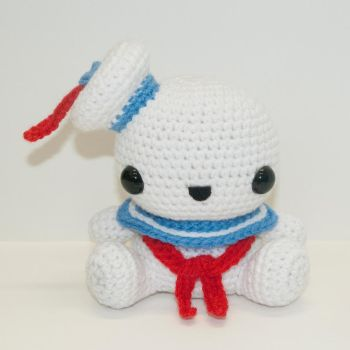 Stay Puft Marshmallow Man by Heartstringcrochet