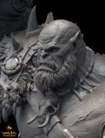 Orgrim Doomhammer 1:10 Scale Sculpture by HazardousArts