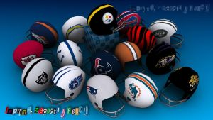 NFL AFC Teams Helmet by Dil1880