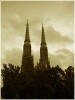 church's twin towers by Andromeda-Mirtle