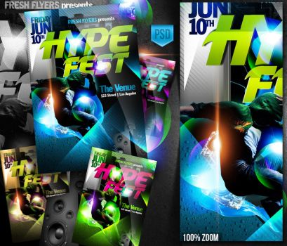 Hype Fest PSD Flyer Template by ImperialFlyers