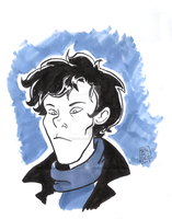 Sherlock by MuddleofDoodlez