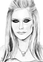 Drawing - Avril Lavigne by fernandasabaudo