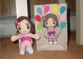 Baby Avrie Plushie and Bag by TashaAkaTachi