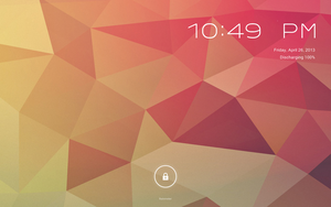 WIP Android Jelly Bean for Rainmeter V2 Lockscreen by ScoobSTi