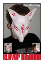 Klever Kitsune Mask, Custom by che4u