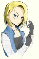 Android 18 by SupMonika