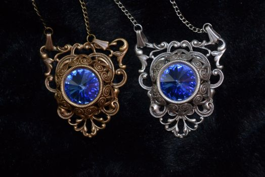 Victorian Gothic in Sapphire by MonstersInThewall